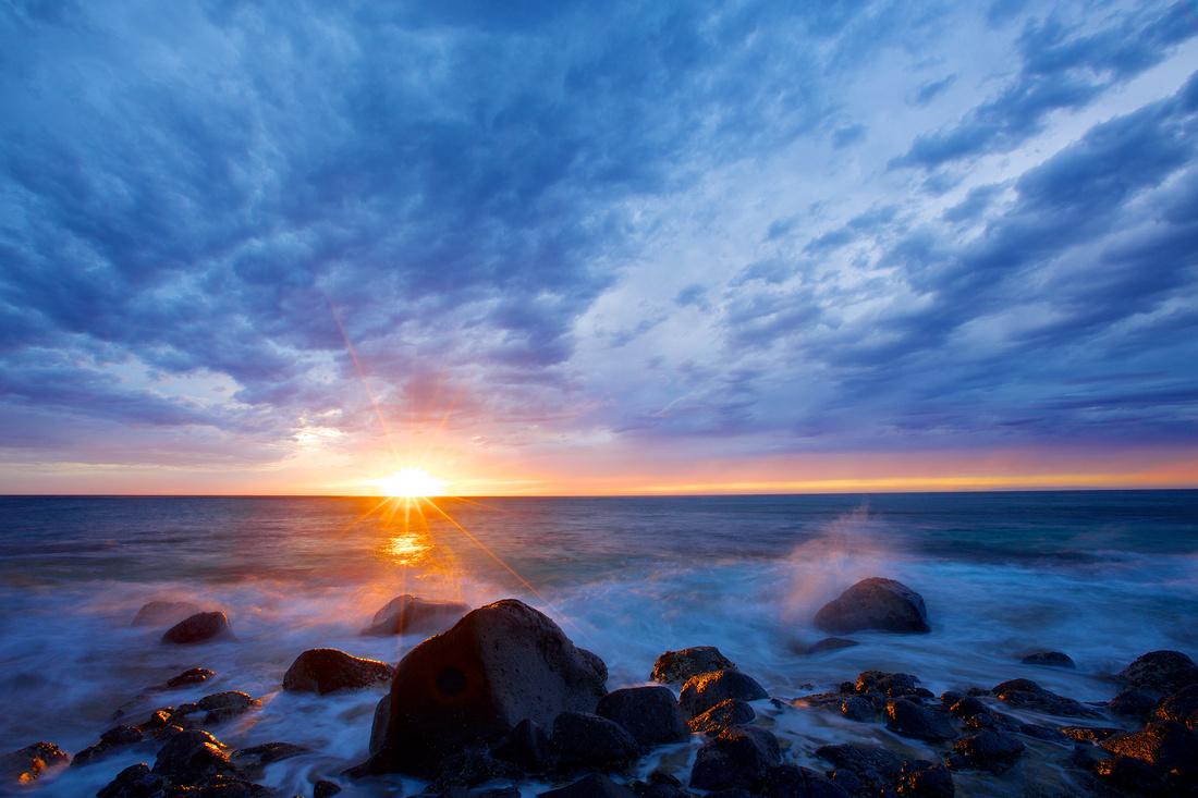 sunstar at ke'e beach