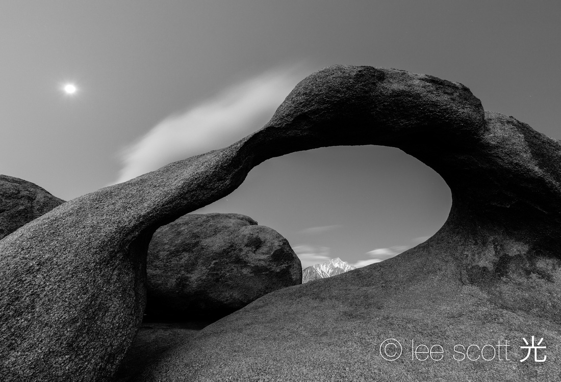 Mobius Arch and Moon