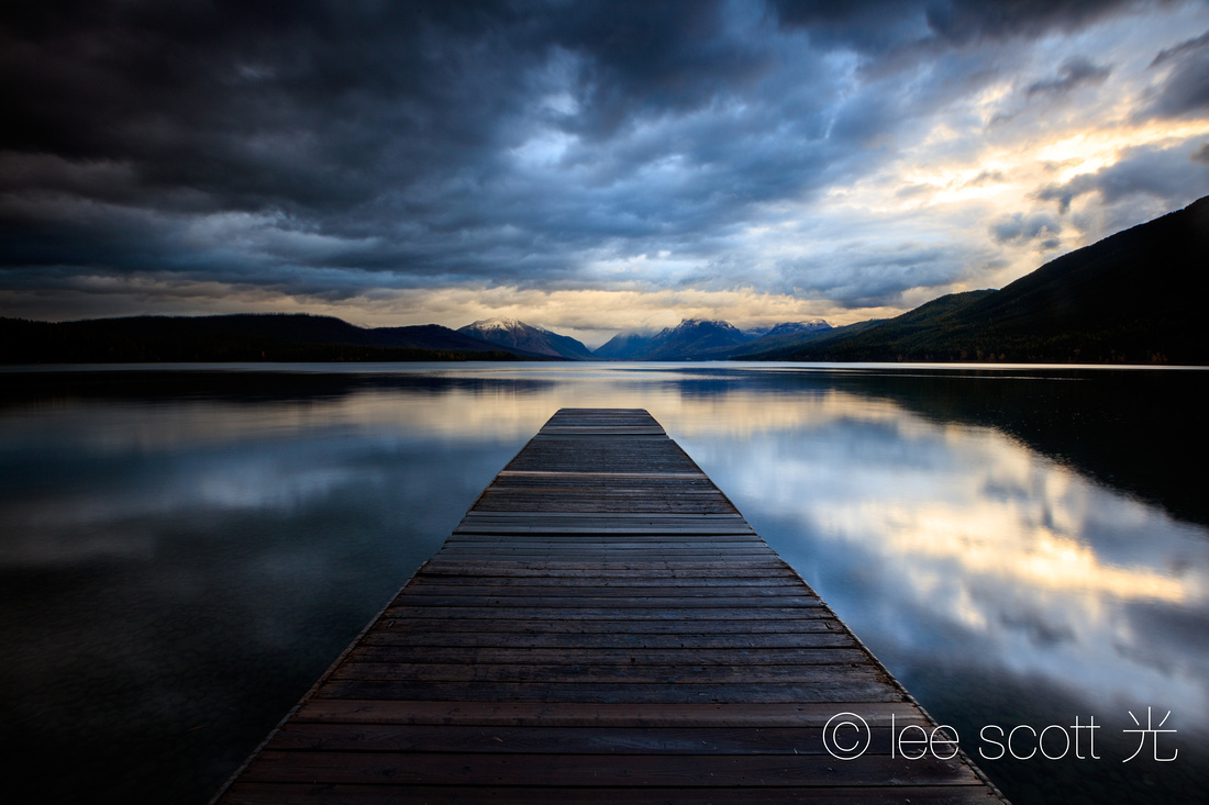 Light Falls on Lake McDonald
