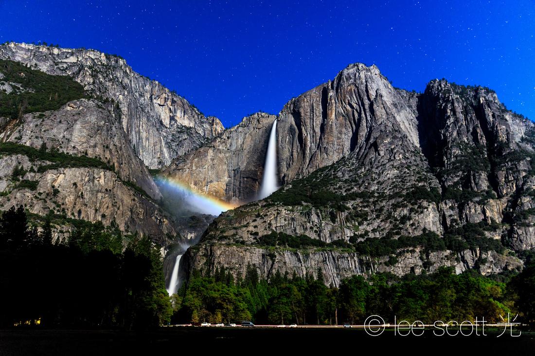 Moonbow and Yosemite Falls