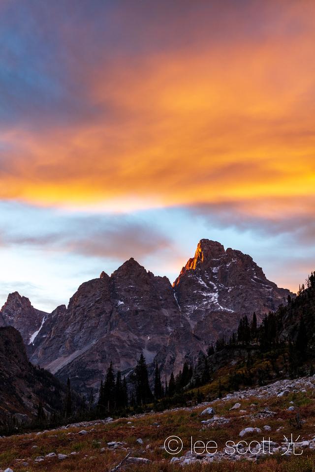 Sunrise on the Teton Crest Trail