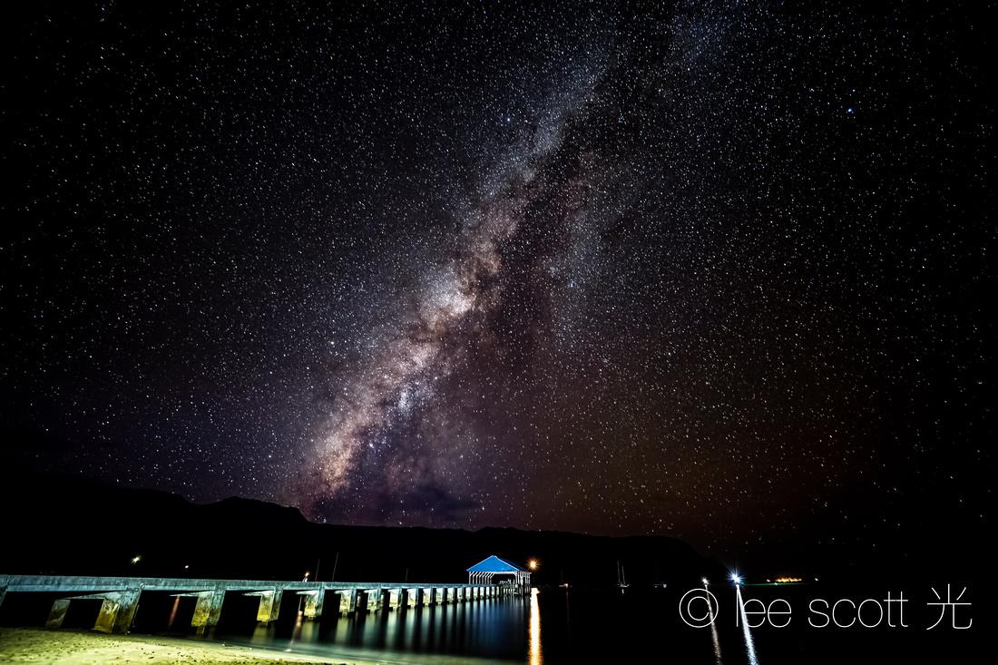 Hanalei Bay night sky