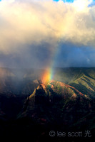 A Rainbow Falls into Waimea Canyon
