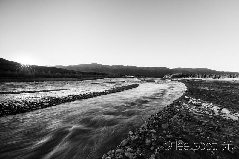 Sunset, Teklanika River