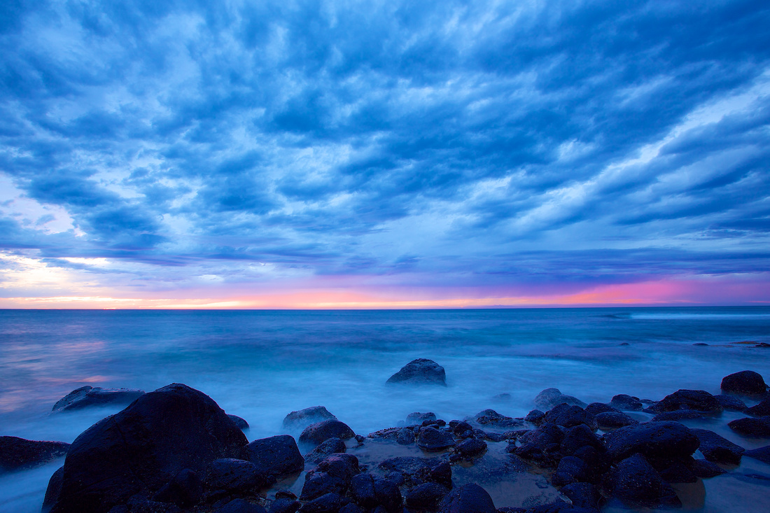 clouds above ke'e beach